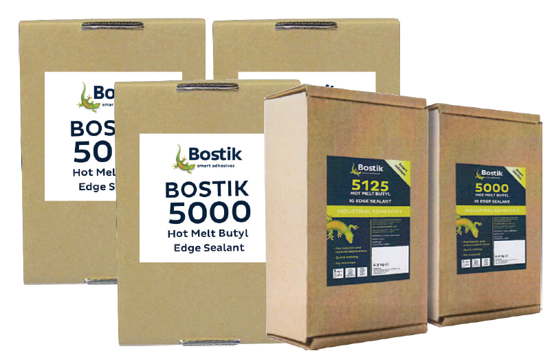 Bostik Hotmelt 5000 & P5125 for Double Glazing - DGS Group Plc