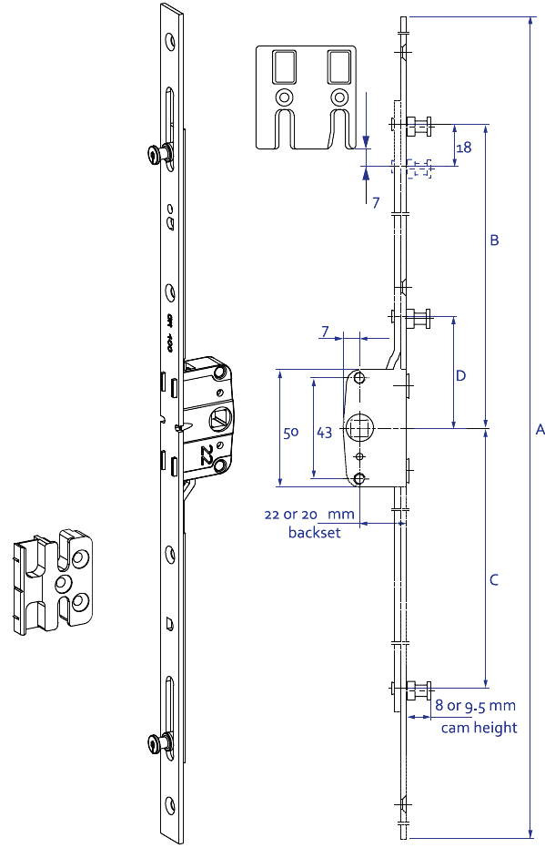 Elite Espagnolette Technical Details