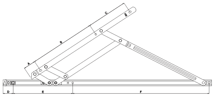 Elite XL 35kg Load Bearing Stays Fixing Hole Diagram