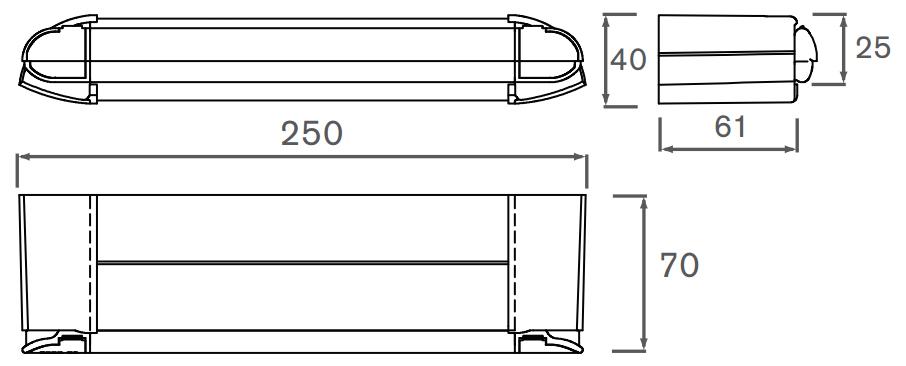 2500EA External Dimensions