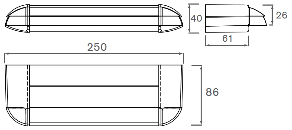 2500EA Internal Dimensions