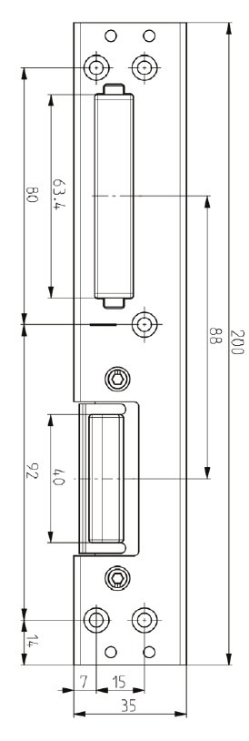 Elite Centre Latch Keep Diagram