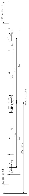 Elite Security Door Lock 2 Hook 4 Roller Technical Details