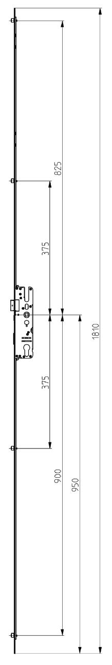 Elite Compact Lock 4 Roller Non Extendable Diagram