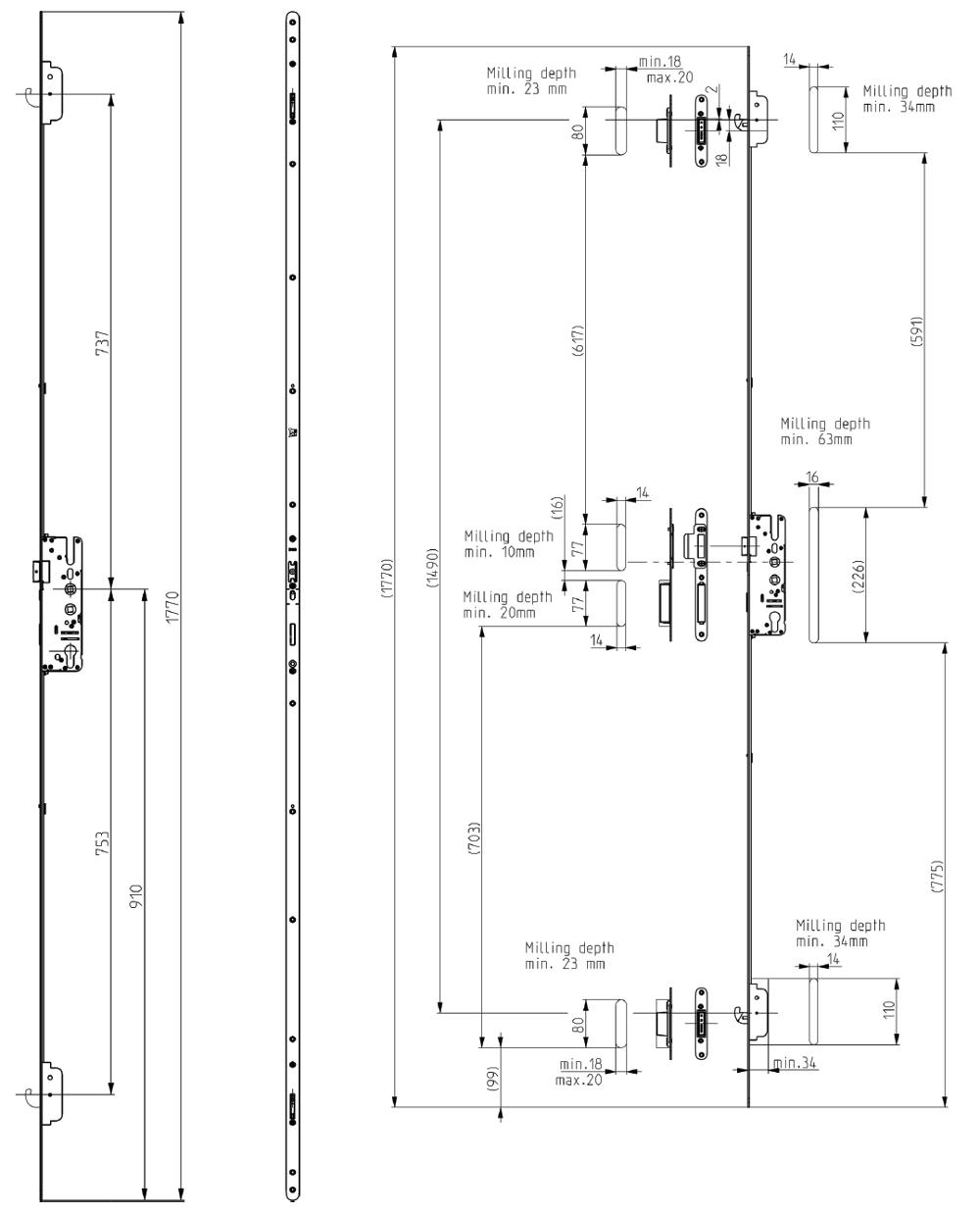 Elite Composite 2 Hook Lock Diagram