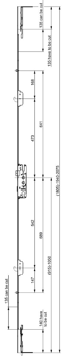 Elite Slave Compact Lock Dimensions
