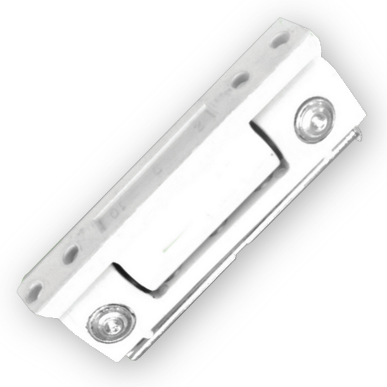 Security Butt Hinge - White Finish