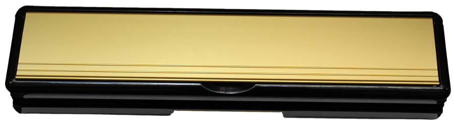 12 Letterplate - Gold