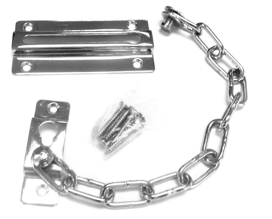 Door Furniture - Chrome Sliding Chain