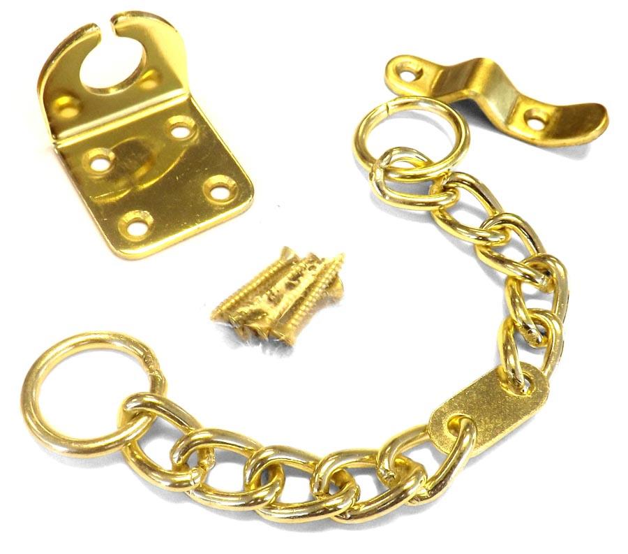 Door Furniture - Gold Security Chain