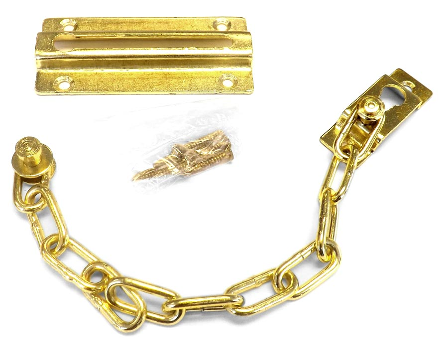 Door Furniture - Gold Sliding Chain