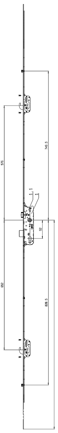 Standard 2H 2R Technical Drawing
