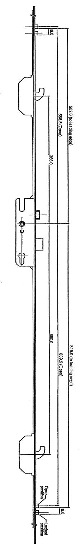Rhino Compact 2H2R Lock Drawing