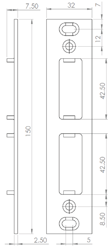 Low Threshold - Double French Keep Dimensions