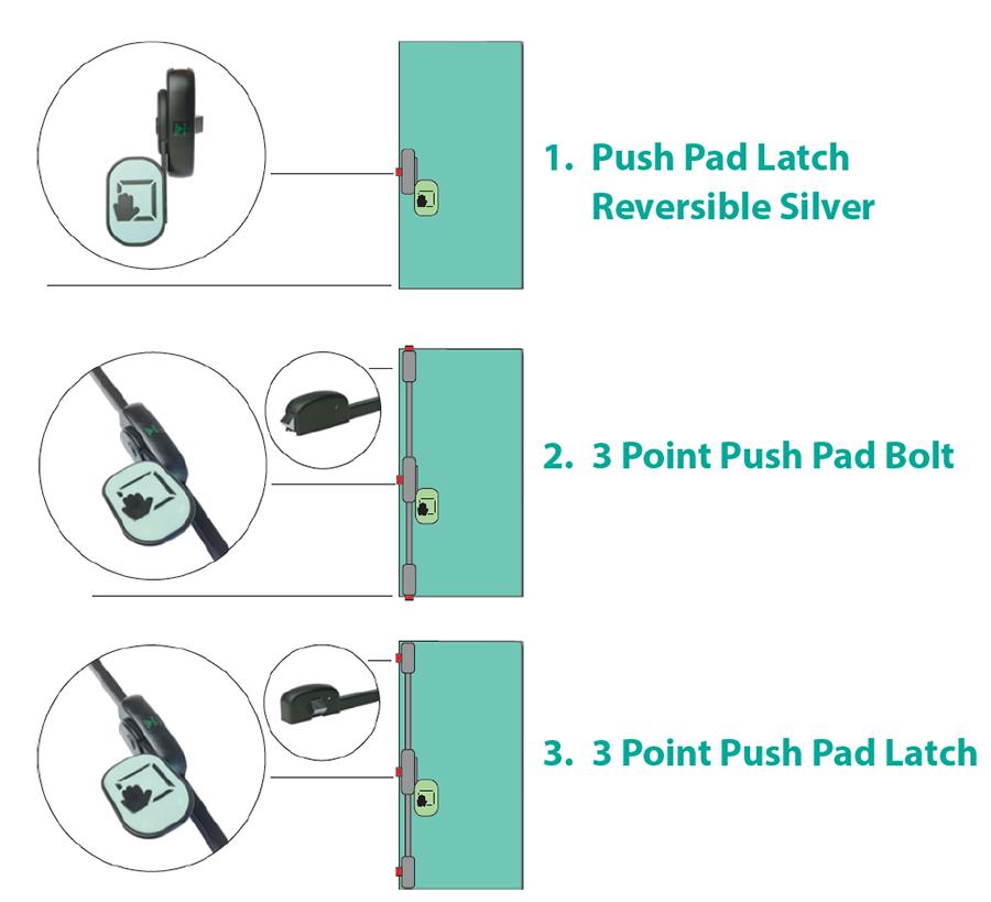 Emergency Exit - Modular Push Pad Drawing