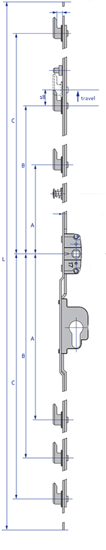Inline Patio - 6 Hook Diagram