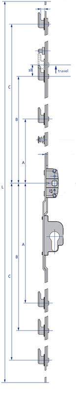Inline Patio - 6 Hook Diagram