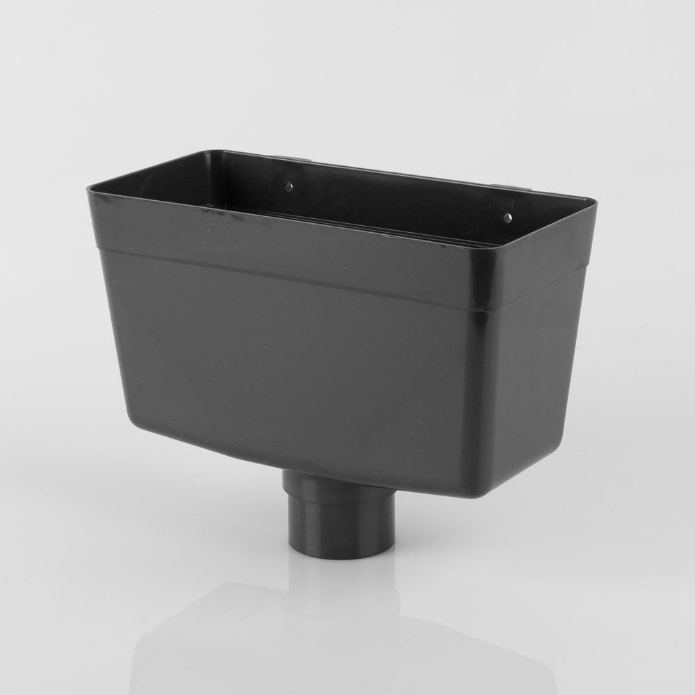 Downpipe Rainwater Head 69mm Roundstyle