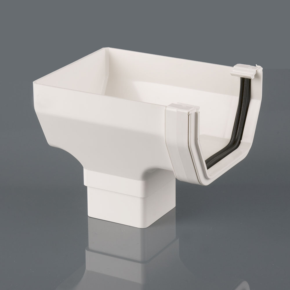 Stopend Outlet 114mm Squarestyle