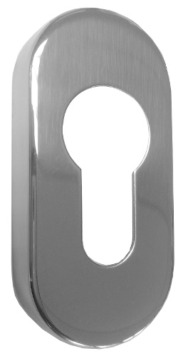 Polished Steel Euro Escutcheon